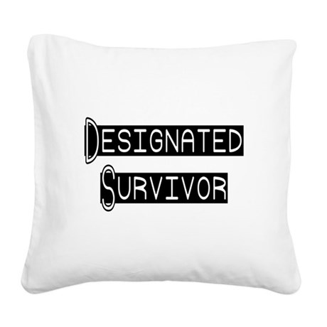 designated survivor Square Canvas Pillow
