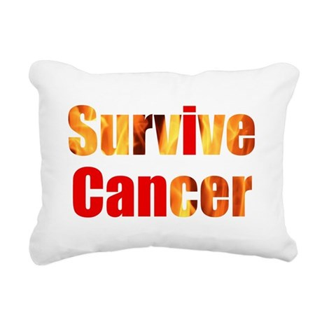 Survive Cancer Rectangular Canvas Pillow