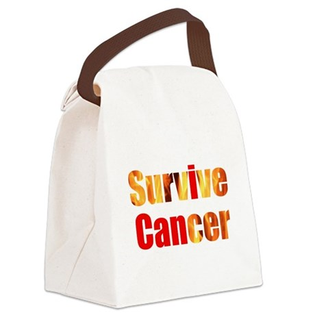 Survive Cancer Canvas Lunch Bag