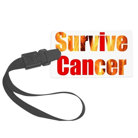 Survive Cancer Large Luggage Tag