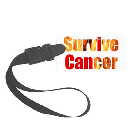 Survive Cancer Small Luggage Tag