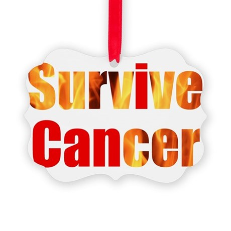 Survive Cancer Picture Ornament
