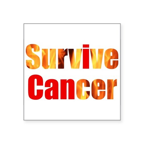 "Survive Cancer Square Sticker 3"" x 3"""