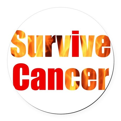 Survive Cancer Round Car Magnet