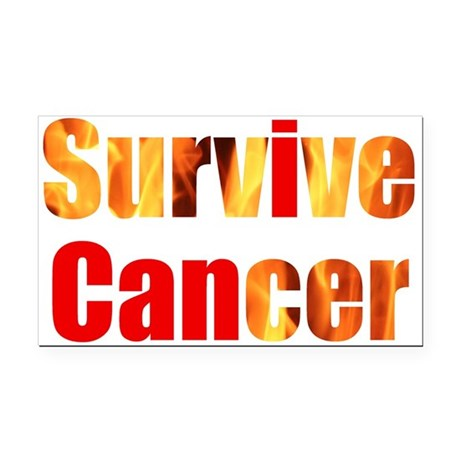 Survive Cancer Rectangle Car Magnet