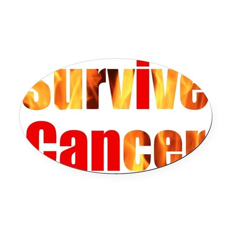Survive Cancer Oval Car Magnet