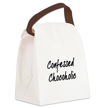 Confessed Chocoholic Canvas Lunch Bag