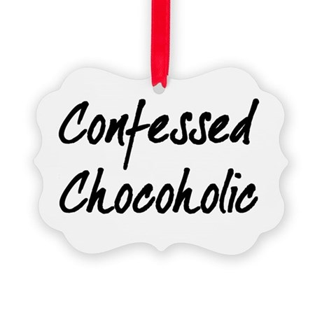 Confessed Chocoholic Picture Ornament