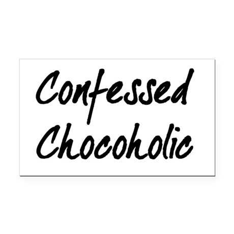 Confessed Chocoholic Rectangle Car Magnet