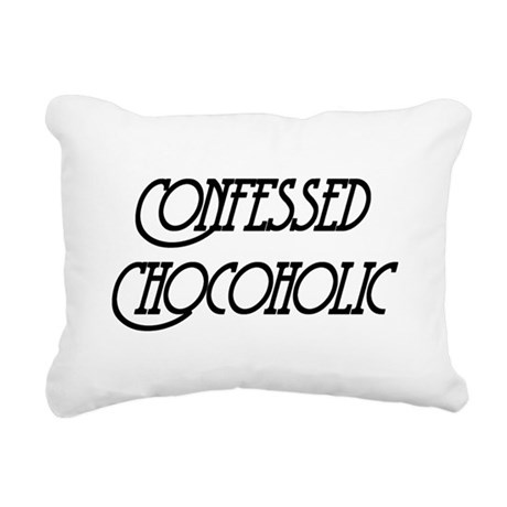 Confessed Chocoholic Rectangular Canvas Pillow