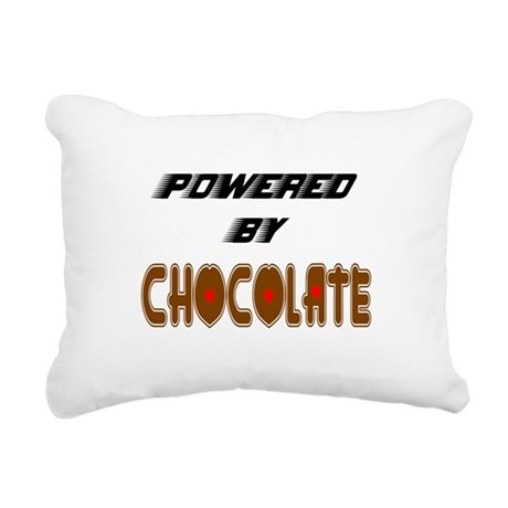 Powered by Chocolate Rectangular Canvas Pillow