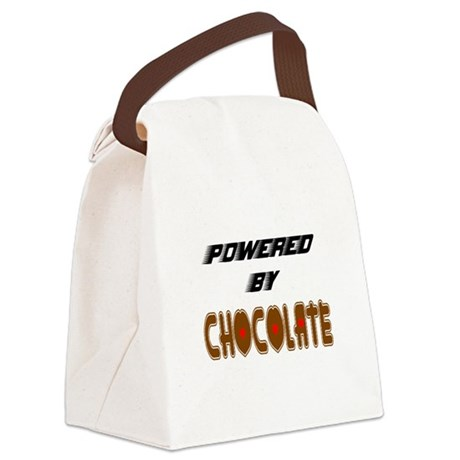 Powered by Chocolate Canvas Lunch Bag