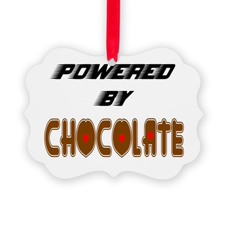 Powered by Chocolate Picture Ornament