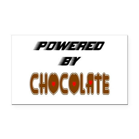 Powered by Chocolate Rectangle Car Magnet