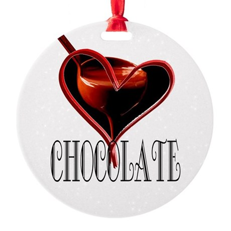 CHOCOLATE Round Ornament