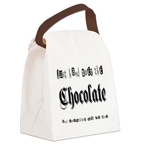 Hand Over the Chocolate Canvas Lunch Bag