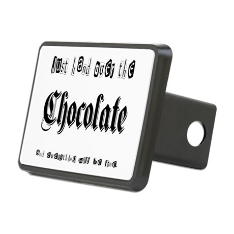 Hand Over the Chocolate Rectangular Hitch Cover