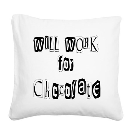 chocolate12.JPG Square Canvas Pillow