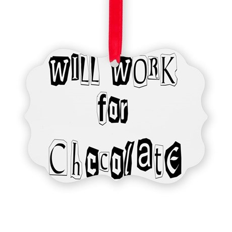 chocolate12.JPG Picture Ornament