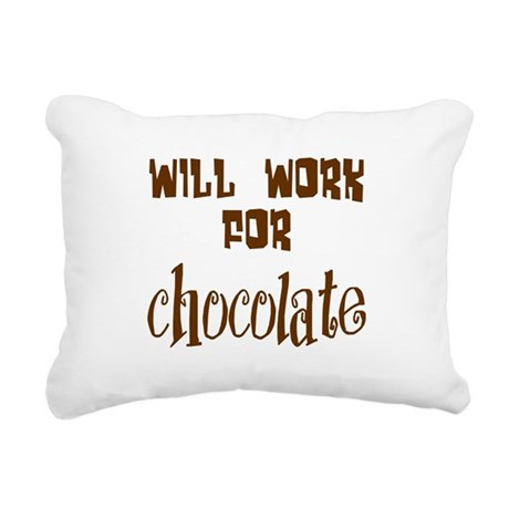 chocolate10.png Rectangular Canvas Pillow
