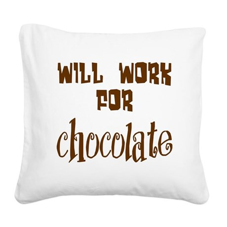 chocolate10.png Square Canvas Pillow