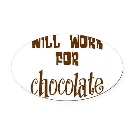 chocolate10.png Oval Car Magnet