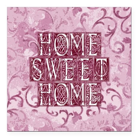 "homesh3d.jpg Square Car Magnet 3"" x 3"""