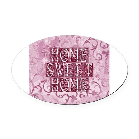 homesh3d.jpg Oval Car Magnet