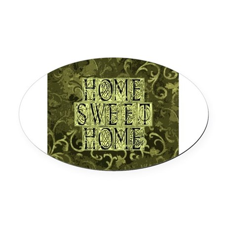 homesh3b.jpg Oval Car Magnet