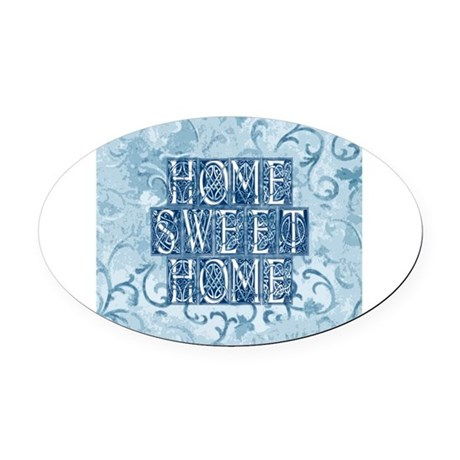 homesh3.jpg Oval Car Magnet