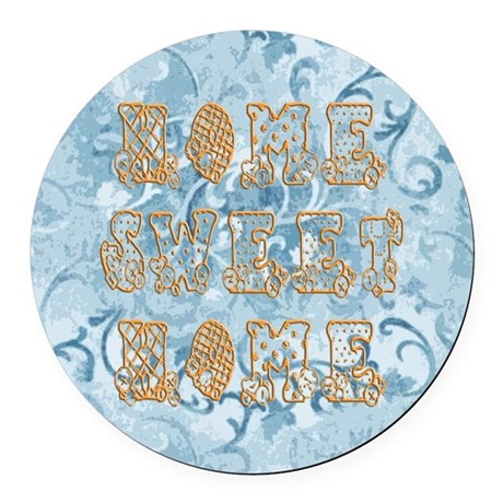 homesh.jpg Round Car Magnet