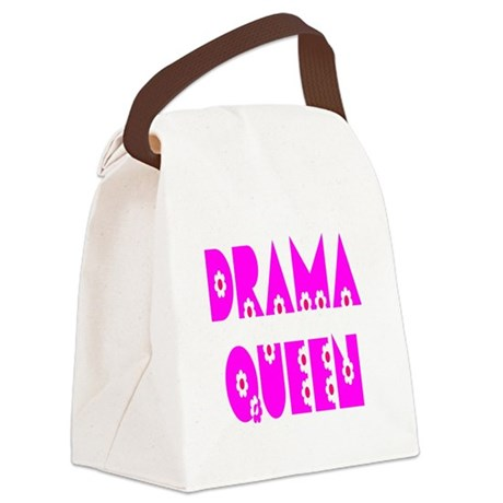 dramaqueen.png Canvas Lunch Bag