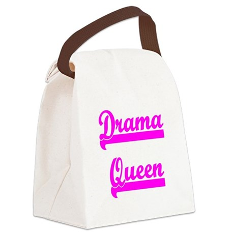 dramaqueen6.png Canvas Lunch Bag