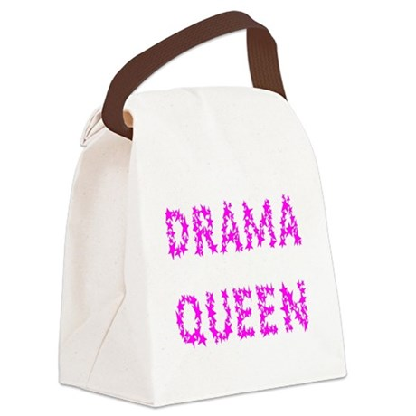 dramaqueen5.png Canvas Lunch Bag