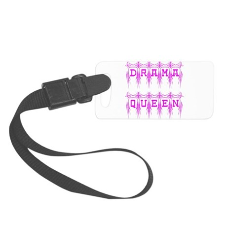 dramaqueen4.png Small Luggage Tag