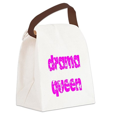 dramaqueen3.png Canvas Lunch Bag