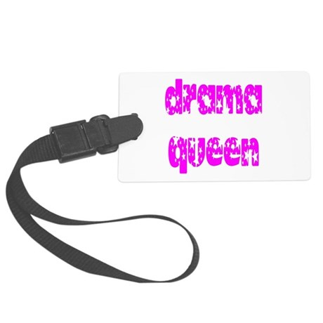 dramaqueen3.png Large Luggage Tag
