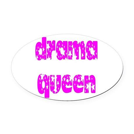 dramaqueen3.png Oval Car Magnet