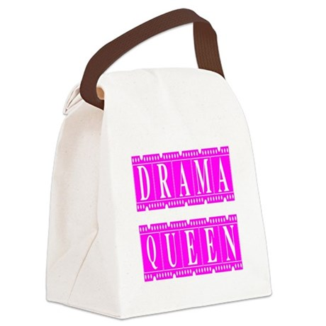 dramaqueen2.png Canvas Lunch Bag