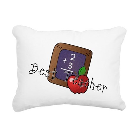besteacher.png Rectangular Canvas Pillow