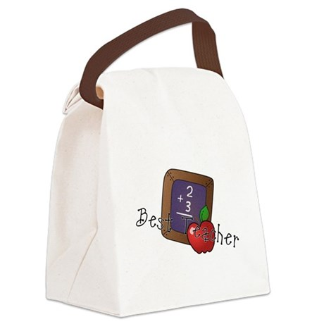 besteacher.png Canvas Lunch Bag