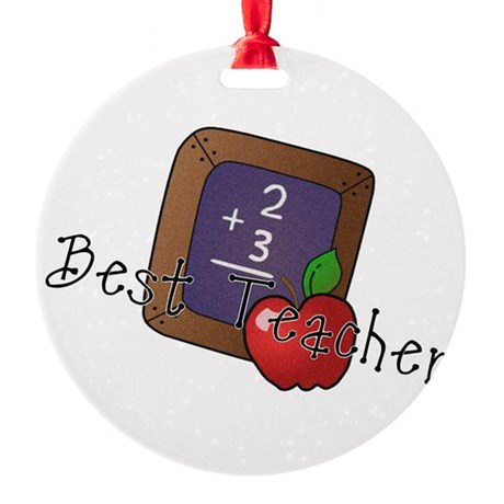besteacher.png Round Ornament