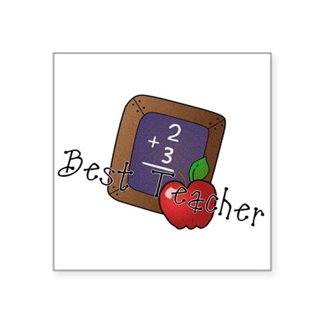 "besteacher.png Square Sticker 3"" x 3"""