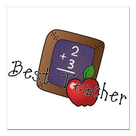 "besteacher.png Square Car Magnet 3"" x 3"""