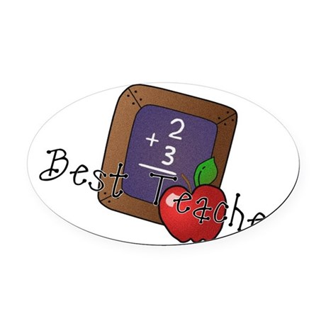 besteacher.png Oval Car Magnet