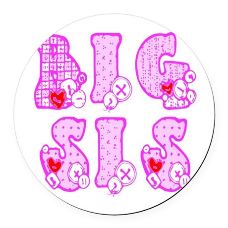 bigsis1a.JPG Round Car Magnet