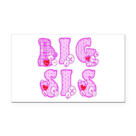 bigsis1a.JPG Rectangle Car Magnet