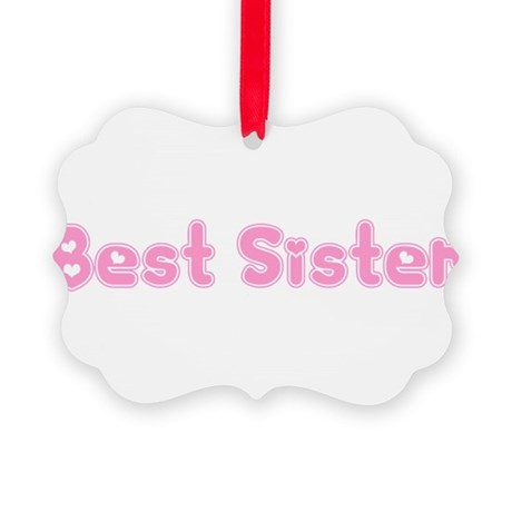 bestsister3.png Picture Ornament