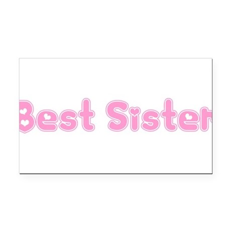 bestsister3.png Rectangle Car Magnet