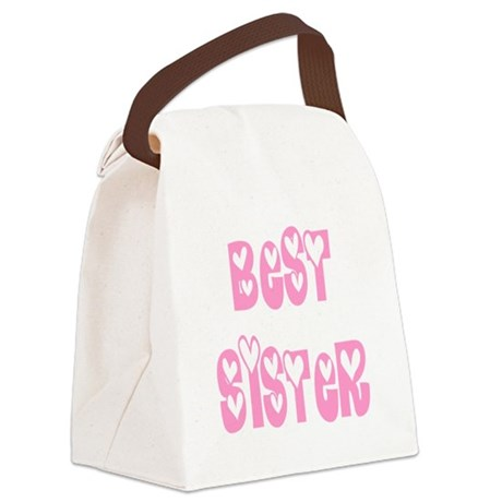 bestsister.png Canvas Lunch Bag
